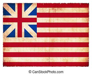 Historic Grunge flag of the USA