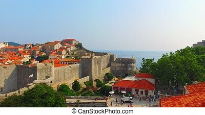 Historic heritage of Dubrovnik - The main entrance to old...