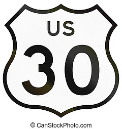 Historic Highway Route shield from 1961 used in the US