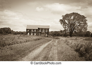 Historic Home Sepia - A sepia toned look at the historic...