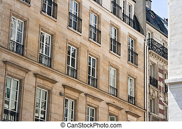 Historic homes in Paris France