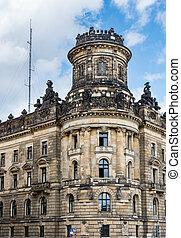 Historic house facade in Dresden