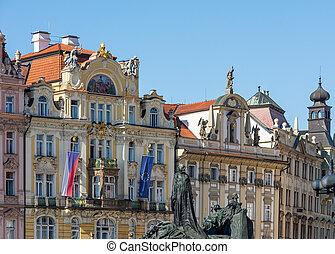 Historic house facade in Prague