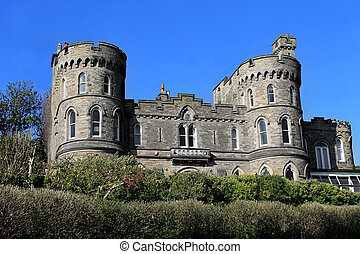 Historic house with castle turrets - Historic English house...