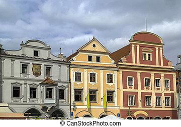 Historic houses, Cesky Krumlov, Czech republic