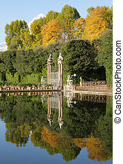 historic italian garden  - Boboli Gardens inFlorence, Italy