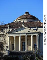 historic Italian Palladian villa called La Rotonda over the...