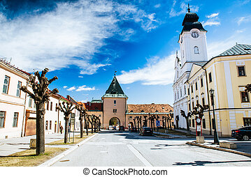 Historic Kosicka gate in city Levoca, Slovakia - LeVOCA,...