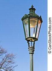 Historic lamp-post in Prague - Historic wrought-iron lamp in...
