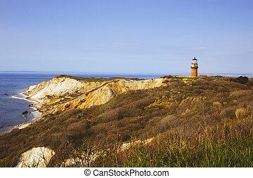 Historic Gay Head Lighthouse, Martha's Vineyard, Massachusetts