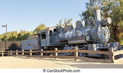 Historic locomotive and wagons