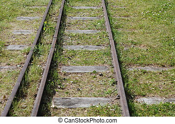 Historic locomotive rails