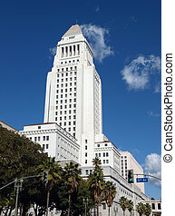 Los Angeles City Hall - Historic Los Angeles City Hall on a...