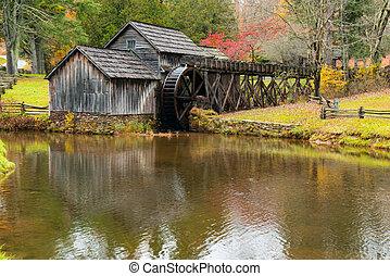 Historic Mabry Mill in Virginia