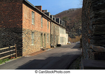 Historic Marmion Row in Harpers Ferry