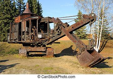 Historic Mining Steam Shovel in Alaska