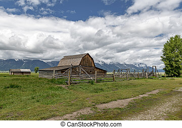 Historic Moulton Barn in Grand Teton National Park, Wyoming, USA