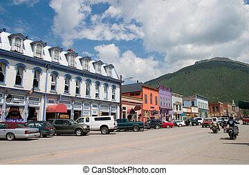 Historic Mountain Mining Town - Downtown historic Silverton,...