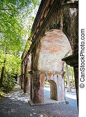 Historic Nanzenji Temple Aqueduct in Kyoto Japan
