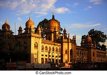 historic Nizamia hospital in India