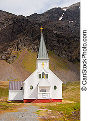 Historic Norwegian Church at Grytviken, South Georgia...