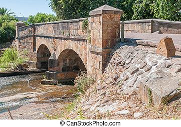 Historic old bridge over the Lourens River