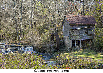 Historic Old Grist Mill - Georgia - Historic old grist mill...
