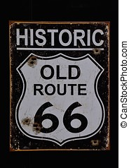 Historic old Route 66 sign.