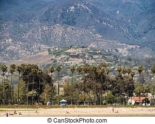 Historic old town in Santa Barbara California