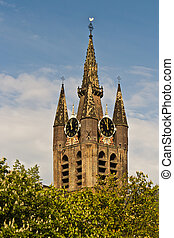 Historic Oude Kerk, the Old Church in Delft, Netherlands