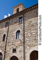 Historic Palace. Montefalco. Umbria.