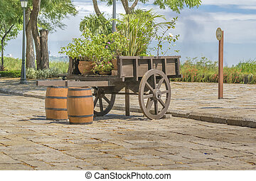 Historic Park, Guayaquil, Ecuador - Old carriage at historic...