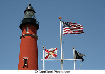 Historic Ponce De Leon lighthouse in Florida
