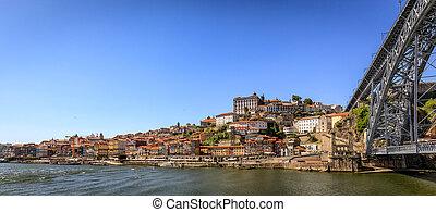 Historic Porto with Bridge Over River Douro