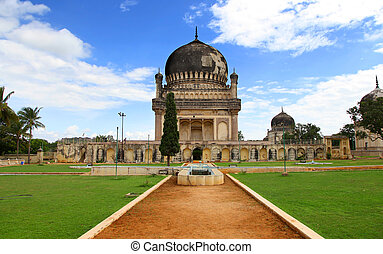 Historic Quli Qutbshahi tombs in Hyderabad, India
