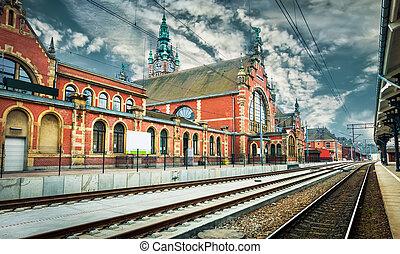 railway station in Gdansk