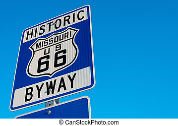 Historic Route 66 Road sign