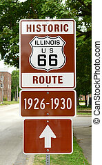 Historic Route 66 Sign in Illinois