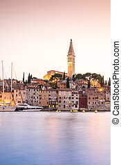 Historic Rovinj during sunset, Croatia