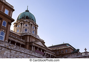 Historic Royal Palace in Budapest, Hungary