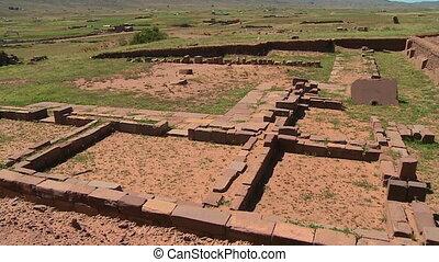 Historic Ruins Of Tiwanaku, Al Paz, Bolivia - medium, high...
