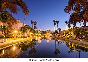 Historic architecture in San Diego, California, USA.