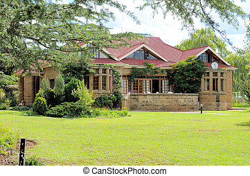 Historic sandstone rectory, Clarens, South Africa