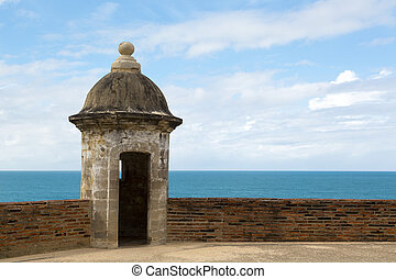 historic sentry box - Historic Spanish lookout tower by San...