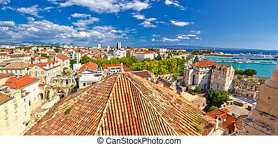 Historic Split rooftops panoramic view