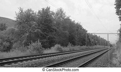 Historic steam train - Historic steam train passing through...