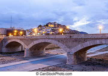 Historic stone bridge in Lorca, Spain