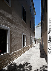 Historic stone buildings in Croatia