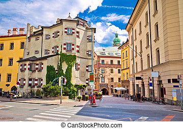 Historic street of Innsbruck view