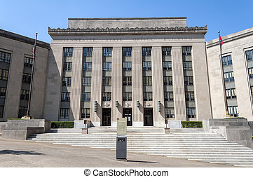 Historic Tennessee State Office Building in Nashville, United States.